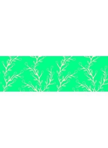 Artikel Çizgisel Yaprak Desenli Runner Masa Örtüsü 43,5X141,5Cm Renkli